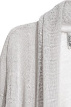 Fine-knit cardigan - Light grey - Ladies | H&M 3